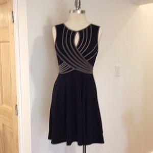 Knit keyhole dress